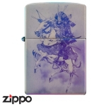 Zippo - Samurai Warrior on Horseback - Blue/Rainbow 3