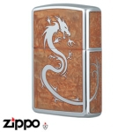 Dragon Zippo - Armor 162 Dragon - Mirror Brown