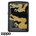 Dragon Zippo - Twin Dragon - Gold