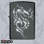 Dragon Zippo - Gilded Tribal Dragon Zippo