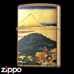 Zippo - Gold Leaf Artwork - Hokusai's Aoyama Enza-no Matsu
