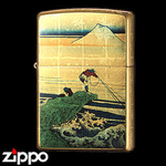 Zippo - Gold Leaf Artwork - Hokusai's  Kajikazawa in Kai Province