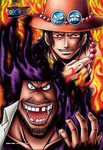 One Piece - Black Beard and Portgas D. Ace Jigsaw Puzzle