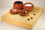 Size 20 Japanese Honshu Kaya Table Go Board Set