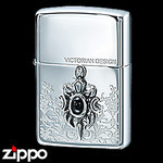 Sterling Silver Zippo - Emblem of Kings  (Dark)
