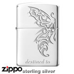 Sterling Silver Zippo - Tribal Destiny