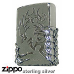 Sterling Silver Zippo - Tribal Beast