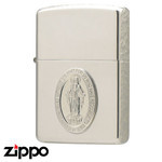 Sterling Silver Zippo - Virgin Mary