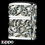 Engraved Zippo - Devil's Jacket  (Silver)