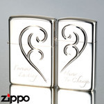 Pair Zippo - Hearts