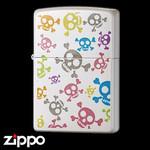 Skull Zippo - Pop Panic  (White)