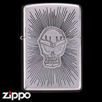 Skull Zippo - Etched Poison  (Halo)