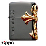Skull Zippo - Lost World  (Cross)