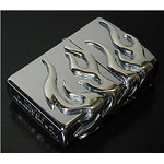 Chrome Zippo - Chrome Fire  (II)