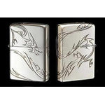 Tribal Zippo - Dragon  (Silver)