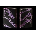 Tribal Zippo - Dragon  (Matte Violet)