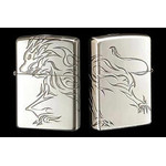 Tribal Zippo - Lion  (Silver)