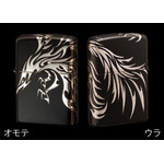 Tribal Zippo - Phoenix  (Matte Silver)