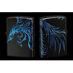 Tribal Zippo - Phoenix  (Matte Blue)