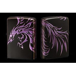 Tribal Zippo - Phoenix  (Matte Violet)