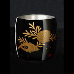Titanium japanese lacquer cup by rhus ocean floor best for Match the ocean floor feature with its characteristic