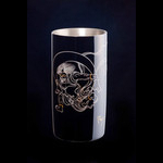 Titanium Japanese Lacquer Tumbler by Rhus  (God of Thunder)