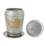 Titanium Double-Wall Tumbler SELECT with Coaster  (Dragon)