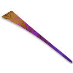 Titanium Hair Stick  (Chrysanthemum - Violet)