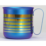 Titanium Mug Cup - Border  (Blue)