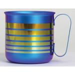 Titanium Mug Cup - Border  (Blue)