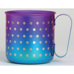 Titanium Mug Cup - Polka Dot  (Violet Blue)