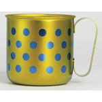 Titanium Mug Cup - Polka Dot  (Yellow)