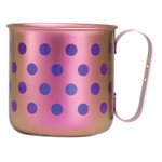 Titanium Mug Cup - Polka Dot  (Light Pink)