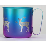 Titanium Mug Cup - Deer  (Winter)