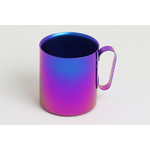 Double-Walled Titanium Mug Cup - Large with Handle  (Violet Blue)