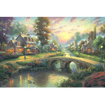 Thomas Kinkade - Sunset on Lamplight Lane 2000 Small Piece Jigsaw Puzzle