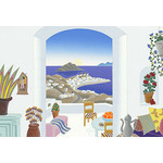 Thomas McKnight - Mykonos Breeze 2000 Small Piece Jigsaw Puzzle