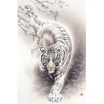 White Tiger - Japanese Design 1000 Piece Jigsaw Puzzle