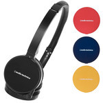 Audio-Technica ATH-WM55 BK Interchangeable Color Fashion Headphones (Black + 3 Colors)