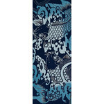 Koi Amidst Surf - Tenugui (Japanese Multipurpose Hand Towel) - Indigo
