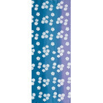 Spring Flowers - Tenugui (Japanese Multipurpose Hand Towel) - Blue