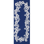 Hibiscus - Mini Tenugui (Japanese Multipurpose Hand Towel) - Blue