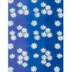 Flowers - Mini Tenugui (Japanese Multipurpose Hand Towel) - Blue