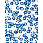 Morning Glory - Mini Tenugui (Japanese Multipurpose Hand Towel) - Blue