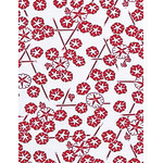 Morning Glory - Mini Tenugui (Japanese Multipurpose Hand Towel) - Red