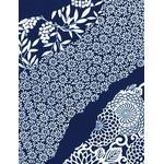 Flower Flow - Mini Tenugui (Japanese Multipurpose Hand Towel) - Indigo