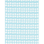 Snowman - Mini Tenugui (Japanese Multipurpose Hand Towel) - Blue