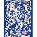Hula - Mini Tenugui (Japanese Multipurpose Hand Towel) - Blue