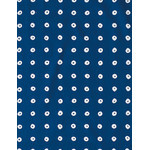 Shibori Rings - Mini Tenugui (Japanese Multipurpose Hand Towel) - Dark Cerulean