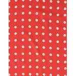 Shibori Rings - Mini Tenugui (Japanese Multipurpose Hand Towel) - Crimson